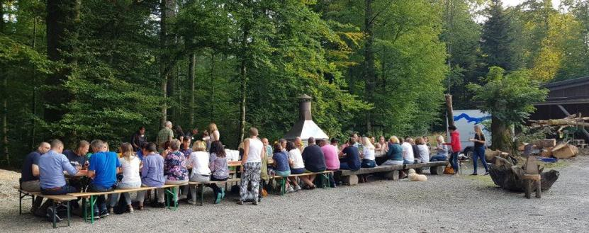 Catering im Wald